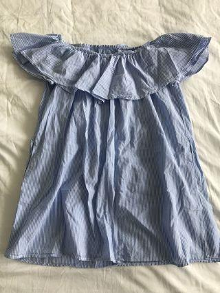 Zara off the shoulder dress size small