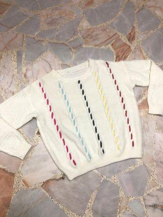 cream white cable knit sweater