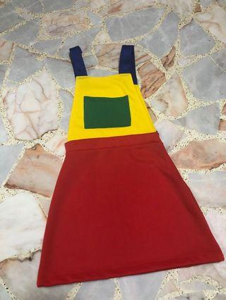 BN authentic omighty colourblock dungaree
