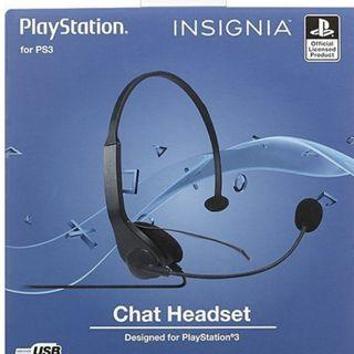 Wired Chat Headset for PlayStation 3