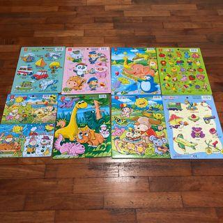 🚚 12pcs and 16pcs puzzles for kids age 2 to 5.