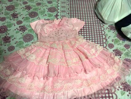 Pink Party wear dress