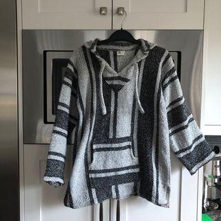 grey & black baja hoodie