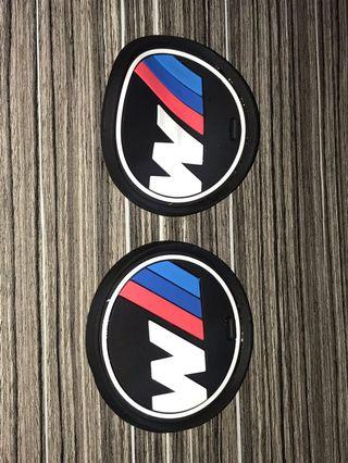 F10 BMW 5 Series Used 2 pcs 3D Car Coaster Cupholder Mats - 73 mm diameter