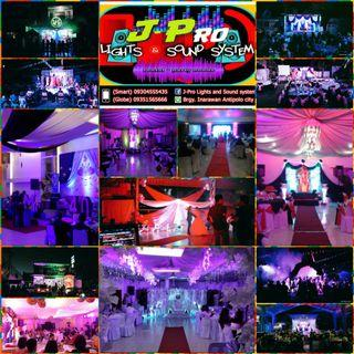 Lights and sounds rental / party needs