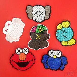 PO KAWS SESAME STREET IRON ON PATCHES FASHION