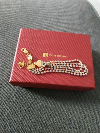 Poh heng 916 2 tone Gold Bracelet