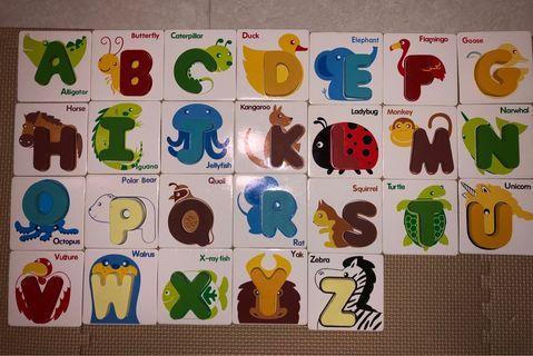 配對立體英文和數字卡 早教 幼教