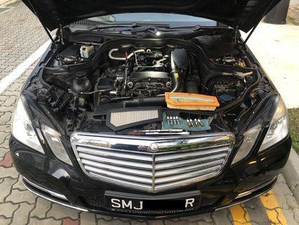 Mercedes E200 Hurricane Filter and Spark Plug Performance package