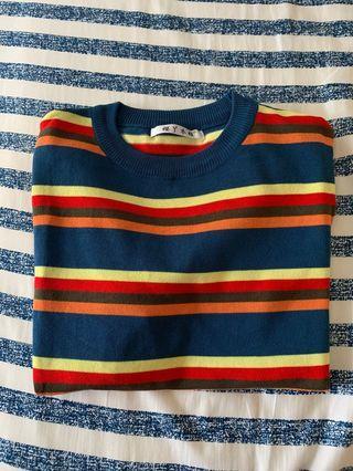 🚚 彩色條紋t-shirt