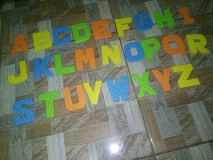 DIY RUBBER ALPHABET (Big Letters)