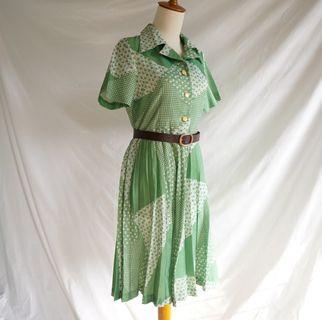 Vintage Dress - Green