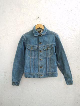 Vtg Trucker Lee jeans Jacket