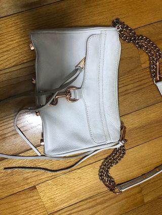 Rebecca Minkoff RM mini Mac bag white