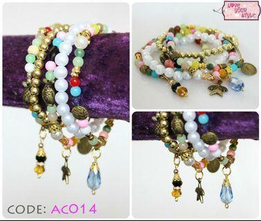 Charm Bracelet Set - Multicolour