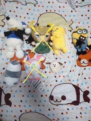 PLUSH TOYS WON FROM CLAW MACHINE ((CLEARANCE)) {{!READ DESCRIPTION!}}