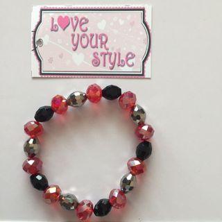 Crystal Bracelet - Red and Black