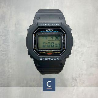 🔴GSS🔴[✅FREE postage]: ✅💯Authentic Casio Classic G-Shock WATCH DW5600E-1V - Black Resin Strap