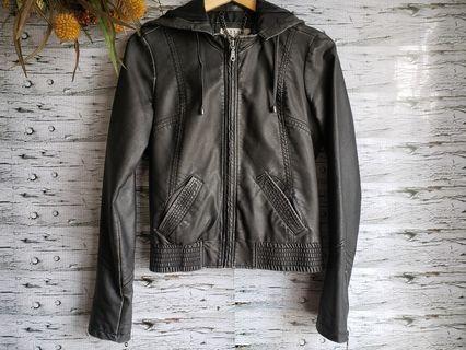 Billabong black faux leather jacket.