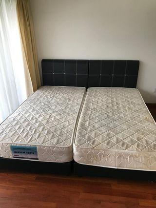 Single Size Bed With Mattress