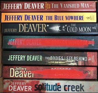🚚 Jeffery Deaver crime thriller novels