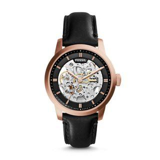 Fossil Townsman Automatic Black Leather Watch ME3084