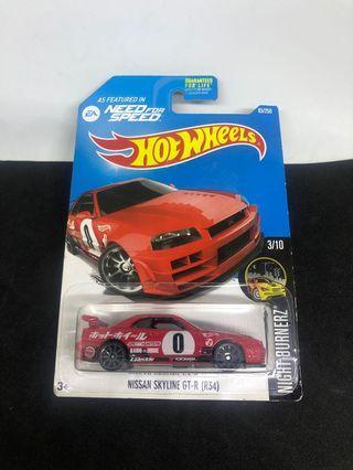 Hotwheels Skyline R34