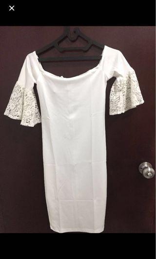New White Sabrina Dress