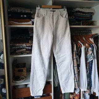 Glassons white corduroy high waisted pants jeans