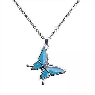 heat sensitive butterfly necklace 🦋