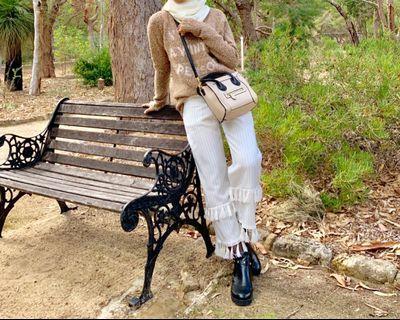 FashionValet SchmileyMo White Tassels Pants