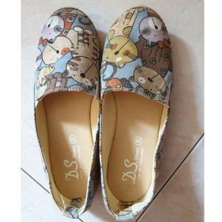 Kids Cat Print Casual Shoes