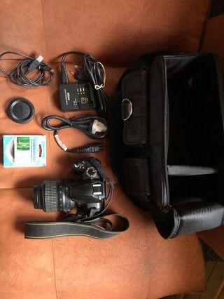 Nikon D3000 with Nikon Tripod