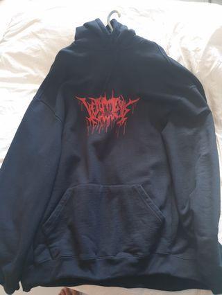 Vetements metal logo hoodie