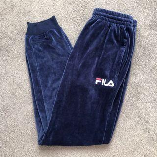 BRAND NEW Fila velour track pants