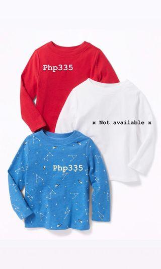 Red Toddle Boys Long Sleeves (Old Navy)