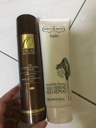 Used authentic hair shampoo and conditioner
