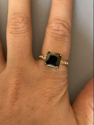 Gold Ring With Black Stone #swapAU