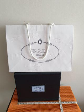 Prada Empty  Box &Paper Bag