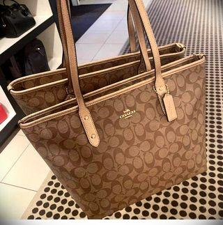 Original Coach City Zip Tote with Tag and Receipt