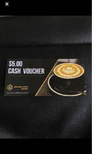 [50% off] Mellower Coffee $5 Cash Voucher (Multiples available)