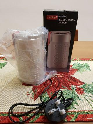 Bodum white electric coffee grinder