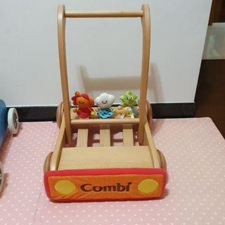 combi 學步車 木頭