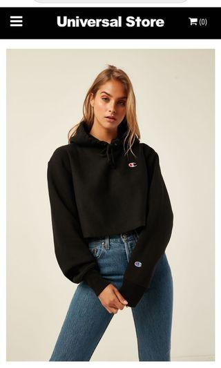 Champions cropped hooded jumper