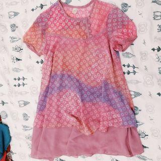Flowy Pinkish Bateeq Top to Dress