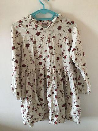 rosee floral baby doll linen dress