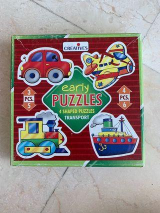 🚚 Early kids puzzles - 3-6 yrs old