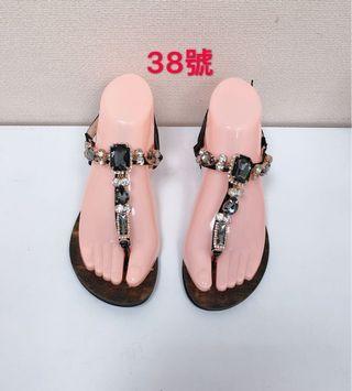 🚚 專櫃女性寶石水鑽涼鞋