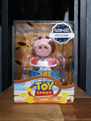 LOG-ON Exclusive Hot Toys Toy Story 4 Hamm with Lifebelt Cosbaby MISB