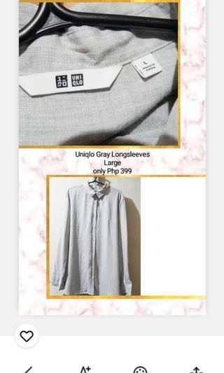 Uniqlo Gray Long sleeves (large) NEW